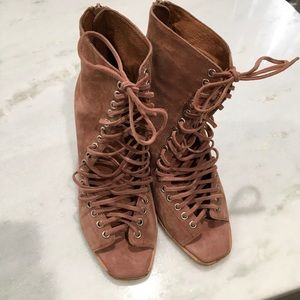 Jeffrey Campbell Suede Lace Up Wedge